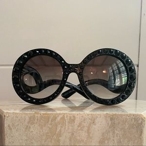 Prada Black Absolute Baroque Crystal Sunglasses